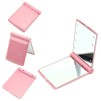 POCKET MIRROR MAKEUP LED LIGHTS - PINK