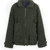 FURRY TEDDY COAT LONG GREEN