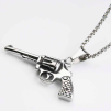 GUN NECKLACE SILVER