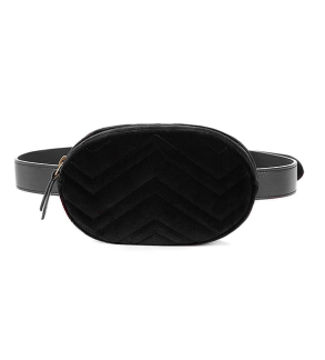 VELVET BELT BAG - BLACK