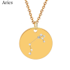 ZODIAC NECKLACE GOLD - ARIES