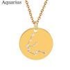 ZODIAC NECKLACE GOLD - AQUARIUS