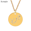 ZODIAC NECKLACE GOLD - SCORPIO