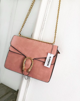 GOLDEN SNAKE BAG - PINK