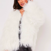 SALLY FAUX FUR JACKET WHITE