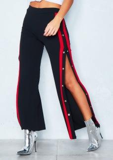 POPPER PANTS BLACK/RED