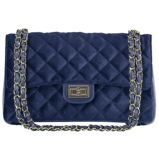CITY BAG VELVET BLUE