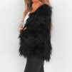 SALLY FAUX FUR JACKET BLACK