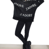 J'ADORE PRINT SWEATER BLACK