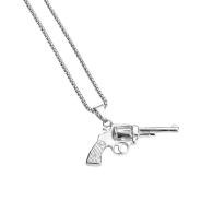 GUN NECKLACE SILVER