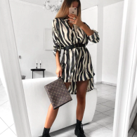 PRINTED DRESS ZEBRA
