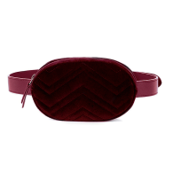 VELVET BELT BAG - RED