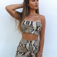 SNAKEPRINT SET SHORTS