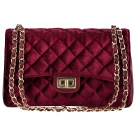 CITY BAG VELVET RED