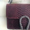 LEATHER SNAKE BAG SMALL RED