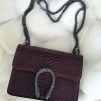 LEATHER SNAKE BAG SMALL RED - ONE SIZE