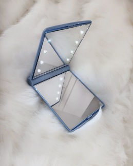 POCKET MIRROR MAKEUP LED LIGHTS - BLUE