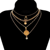 NECKLACE GOLD 5 PIECES