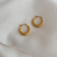 GOLD HOOPS EARRINGS