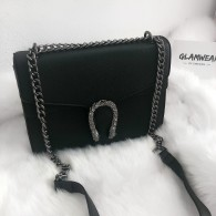 VEGAN LEATHER SNAKE BAG BLACK
