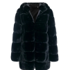 LUNA FAUX FUR JACKET HOODED BLACK