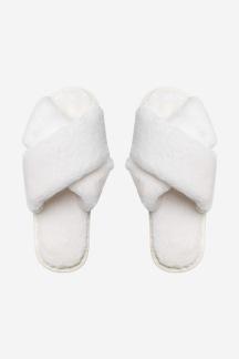LOUIE FAUX FUR SLIPPERS - CREAM WHITE