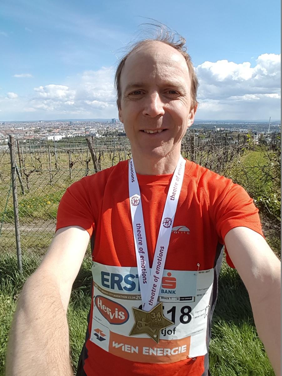 Fritjof efter Vienna City Marathon 2017