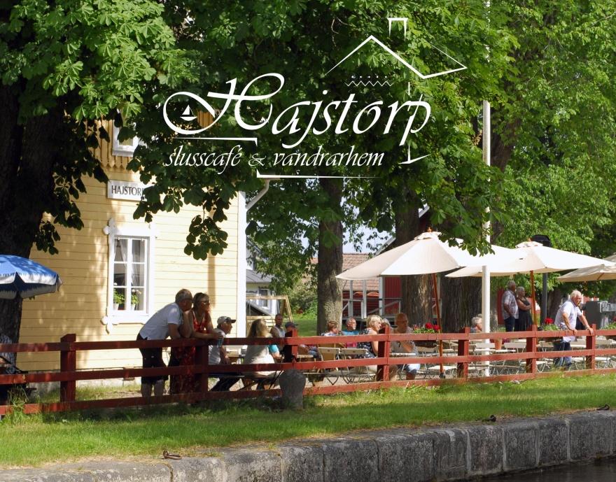 Hajstorp slusscafe vid Göta kanal