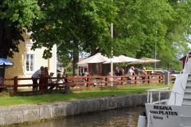 Hajstorps slusscafe vid Göta kanal