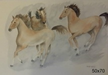 Hästar i rörelse 1.500:-