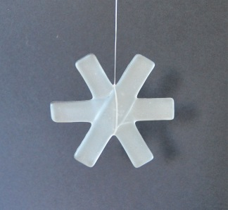 SNÖSTJÄRNA I GLAS - Glasstjärna frost