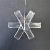 SNÖSTJÄRNA I GLAS - Glasstjärna klarglas