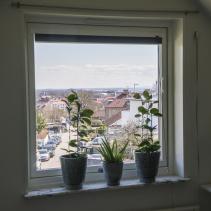 Halmstadfönster med Halmstadvy