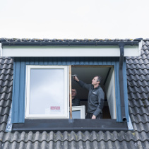 Vridfönster i takkupa