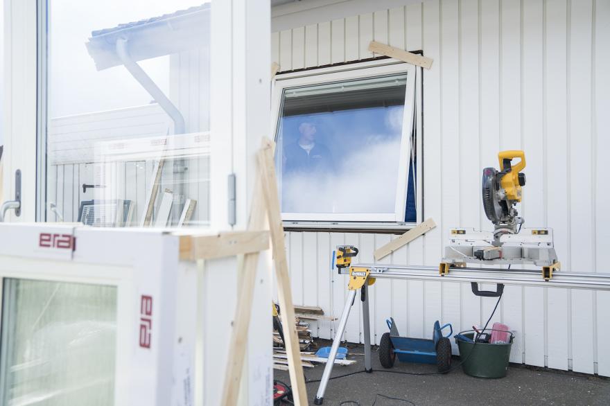 Fönsterbyte i villa Knebilstorp, Halmstad