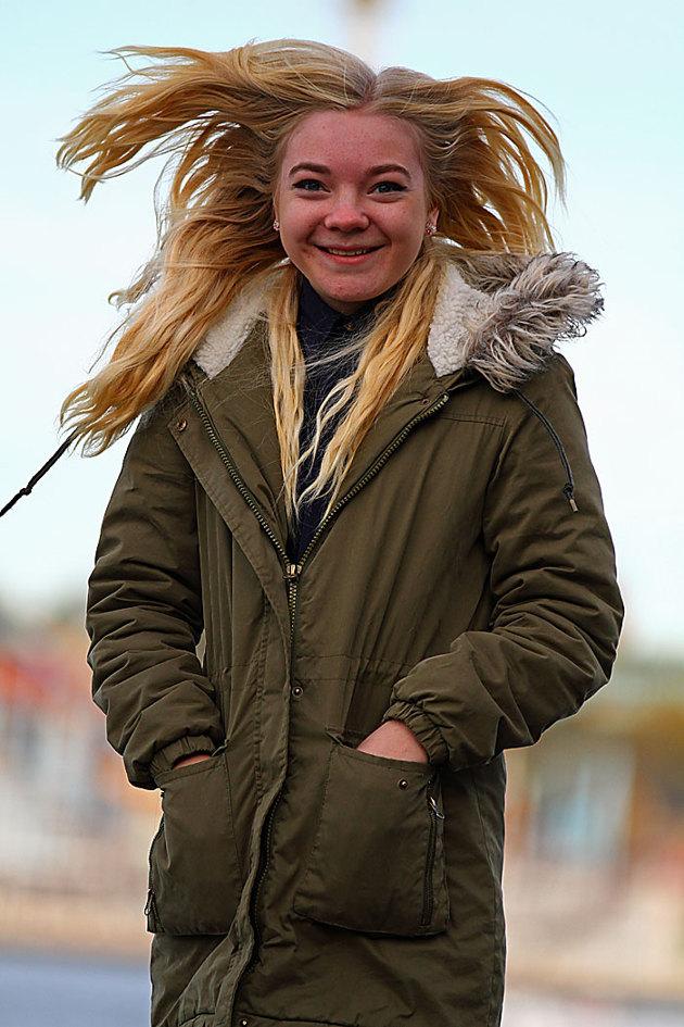 Lite hårruffs utanför fotografiska mitt emot Gröna Lund.