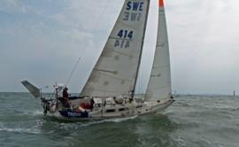 """Min segelbåt """"Thoya"""" som jag ensamseglat över Atlanten 2 gånger. - Foto: Björn Pettersson"""