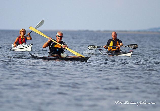 """Vid ett stopp på Tylön i lördags fick jag besök av några från FB gruppen """"paddling Halmstad"""" Klart man är med i den gruppen och många är otroligt duktiga paddlare...bara att fråga om man undrar... Tror vi är ca 116 medlemmar nu."""