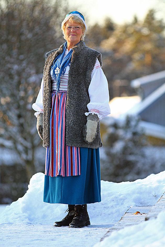 Breareds folkdräkt..såna bilder tas oftast sommartid...går väl bra till vintern med!!
