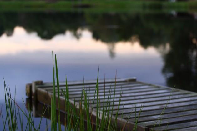 Vacker miljö runt sjöarna.