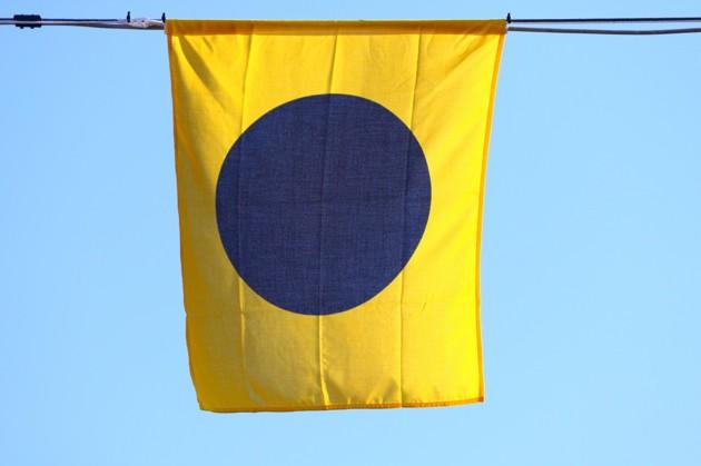 """Signalflagga I villket betyder """"Jag ändrar kurs mot BB."""