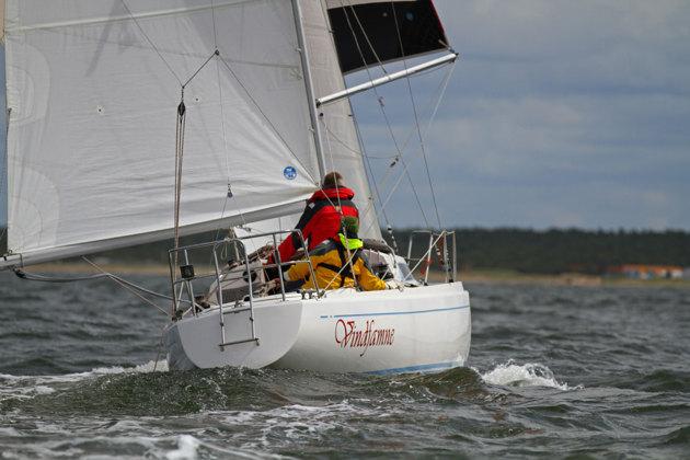 Den enda båten med en kvinnlig skeppare.