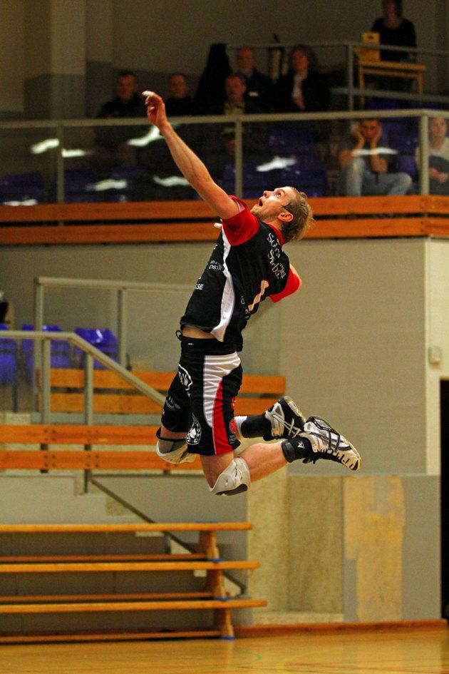 En bild från en match med Hylte Volley som jag plåtat.
