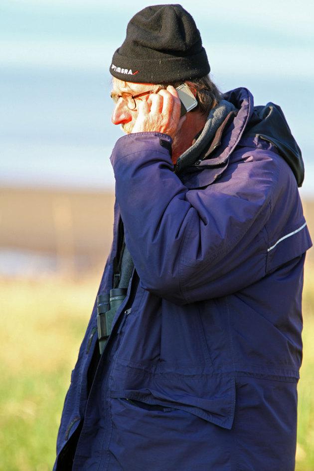 """""""Telefonbekasinen"""" Stefan Lindhal en fena på det här med fåglar och dessutom duktig fotograf."""