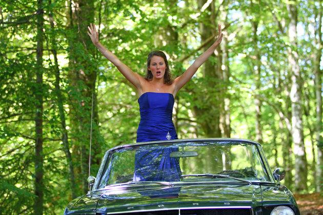 Mustang 69 fick hon åka i...fa...livet är inte rättvist!!