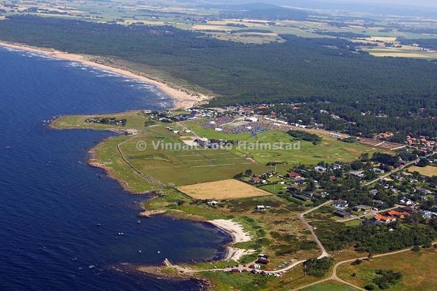 Naturreservatet norrut var orienterings området med målgång vid havet