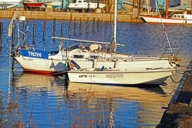 Två av båtarna är i sjön. En halvtaskig bild som jag tog innan hemresa...
