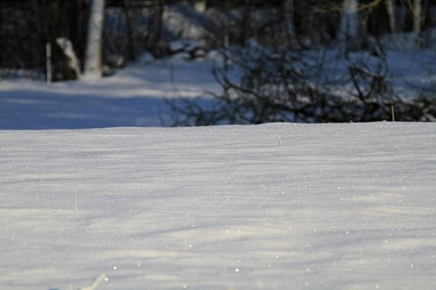 Gnistrande snö...vårteken..nähä
