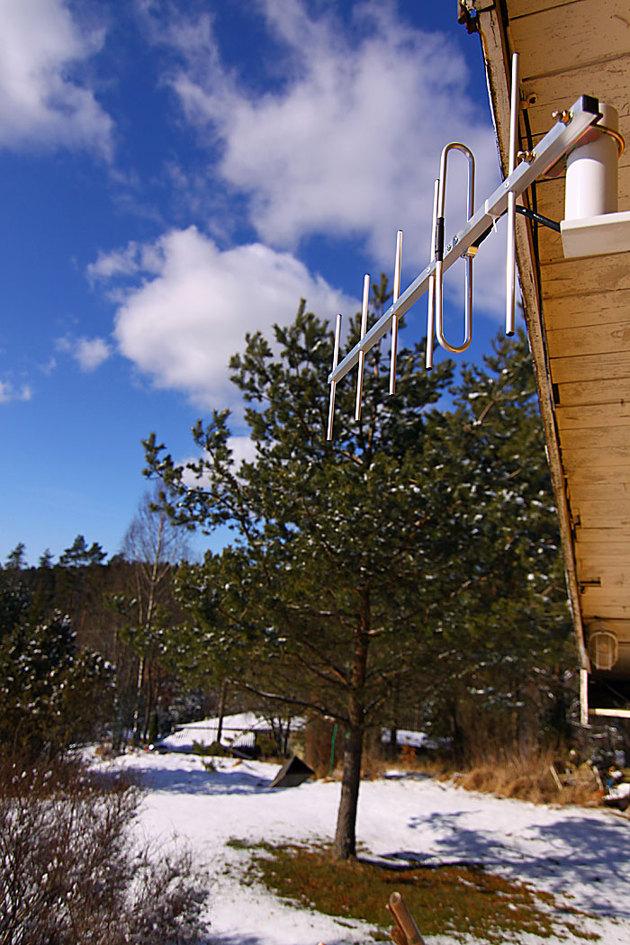 Antenn kapasitet10,5 dBi riktad 192 grader.