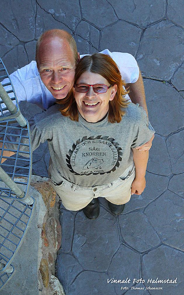 Avslutade gårdagen med reklambilder för Pensionat Sågknorren...på bild krögarparet Susanne & Kjell-Åke Källén.